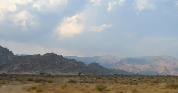 Rain in the Hajar Mountains