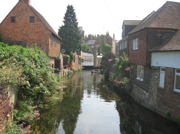 The Stour in the heart of Canterbury