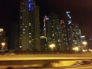 Dubai night SZR