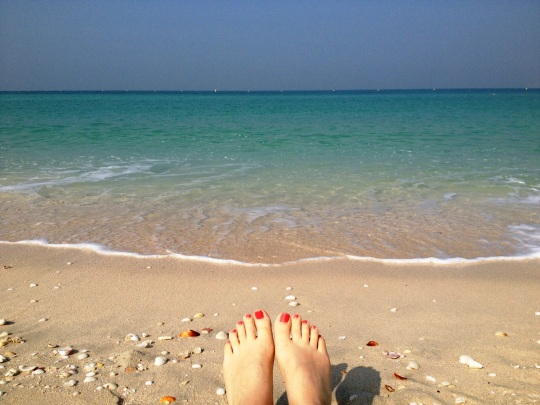 Beach with feet